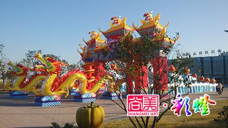 2014年12月安徽芜湖彩灯制作现场