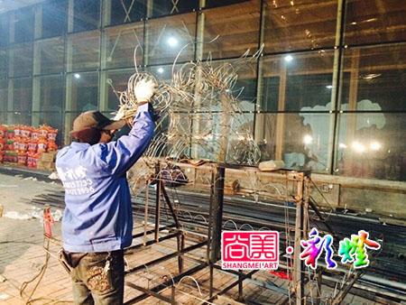 2015年1月安徽黄山彩灯制作现场